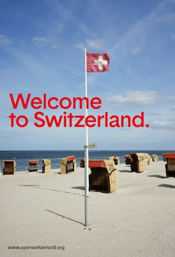 A funny poster designed for Open Switzerland
