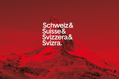 The main poster designed for Open Switzerland