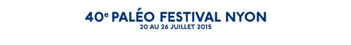 Banner with the logotype of the Paleo Festival with the dates
