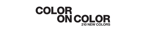 "A white picture banner featuring the quote ""Color on Color"" in a bold black font"