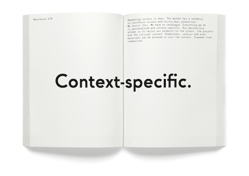 "A opened book with the quote ""Context-specific"""