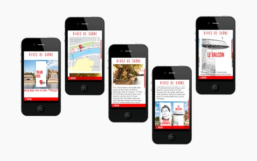 View of the Rives de Saone website on mobile devices