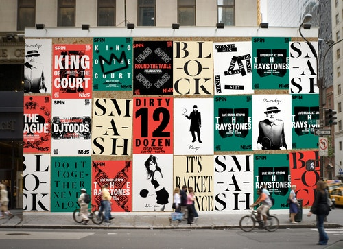 Series of posters designed for Spin in the streets