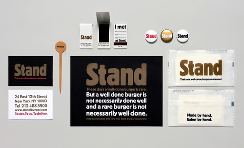 Set of different printed materials for Stand restaurant