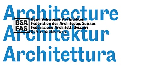 The typography developed for the Swiss Architects Federation