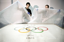Unpacking the poster of The Olympic Museum logo