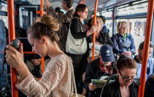 People inside a bus