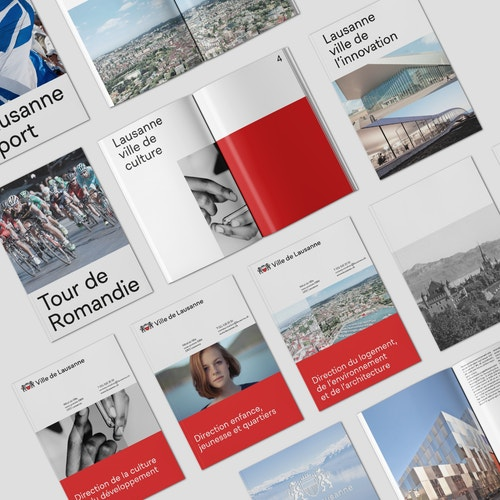 Set of brandbooks for City of Lausanne