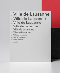 Typography elaborated for the City of Lausanne branding