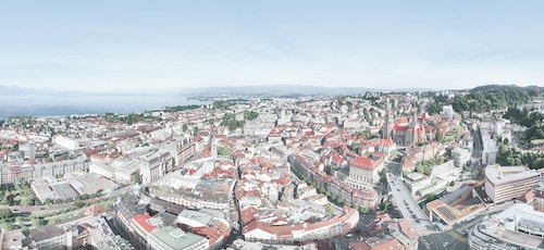 Top view of the City of Lausanne