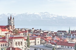 Panorama of the City of Lausanne