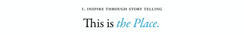 A copywriting for Wellesley College with a quote on inspiring through storytelling