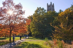 View of the garden of Wellesley College in the autumn
