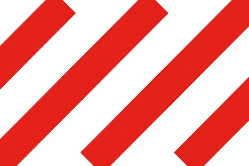 Red diagonal lines for MoMu