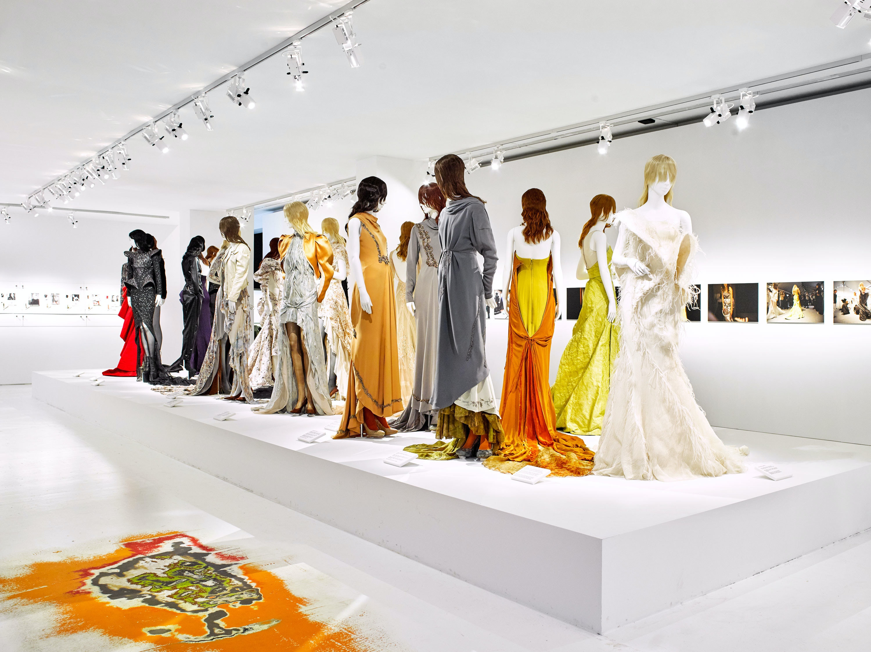 Dresses, view from the MoMu exhibition of Olivier Theyskens called She Walks in Beauty